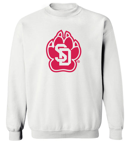 South Dakota Coyotes Crewneck Sweatshirt - SD Coyote Paw