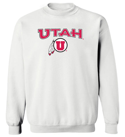Utah Utes Crewneck Sweatshirt - Circle and Feather Logo