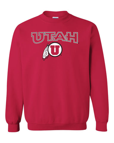 Utah Utes Crewneck Sweatshirt - Circle & Feather Logo