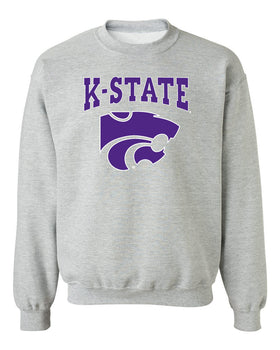 K-State Wildcats Crewneck Sweatshirt - K-State Powercat with Outline