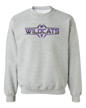 K-State Wildcats Crewneck Sweatshirt - Striped WILDCATS Football Laces