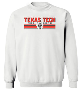 Texas Tech Red Raiders Crewneck Sweatshirt - Double T Horiz Stripe