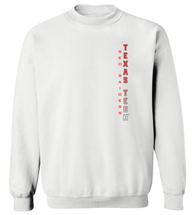 Texas Tech Red Raiders Crewneck Sweatshirt - Vertical Texas Tech Fade