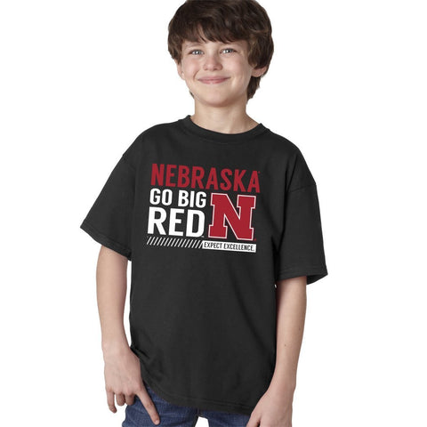 "Nebraska Cornhuskers ""Expect Excellence"" Youth Boys Tee Shirt"