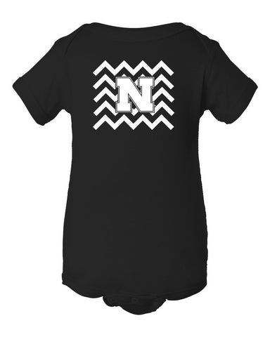 Nebraska Cornhuskers Football Chevron Infant Onesie