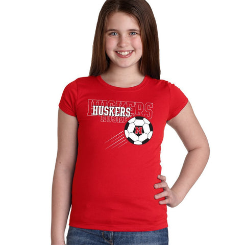 Nebraska Huskers Soccer Youth Girls Tee Shirt
