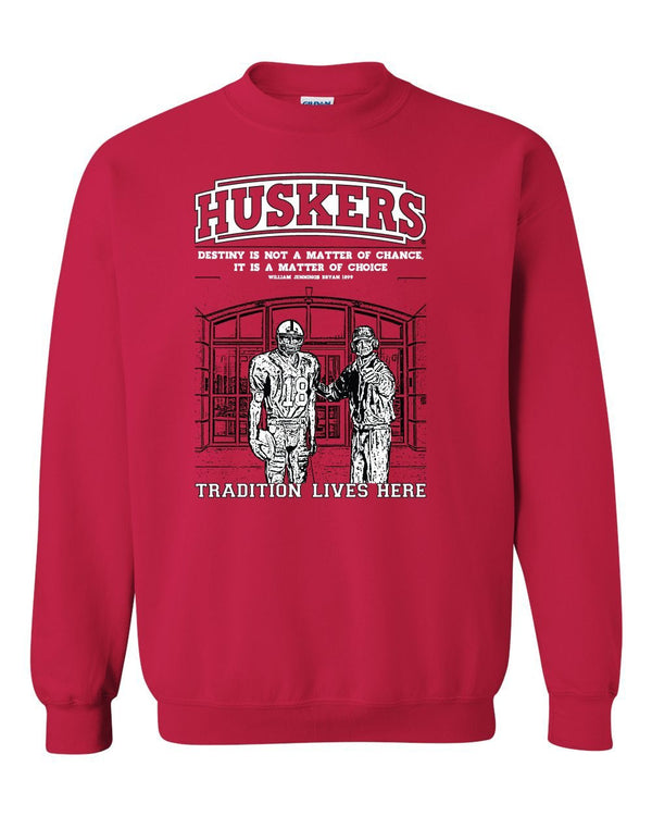 Nebraska Cornhuskers Football Tradition Lives Here Berringer & Osborne Crewneck Sweatshirt