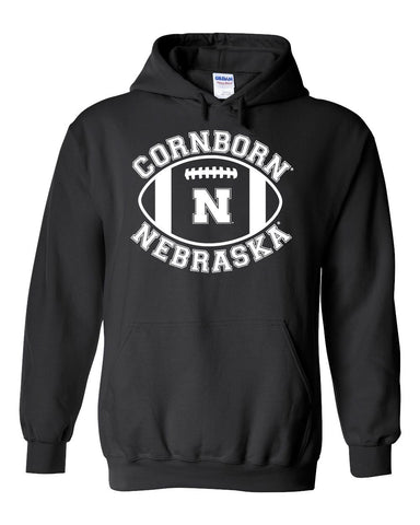 "Nebraska Cornhuskers ""CornBorn N Nebraska"" Football Hooded Sweatshirt"