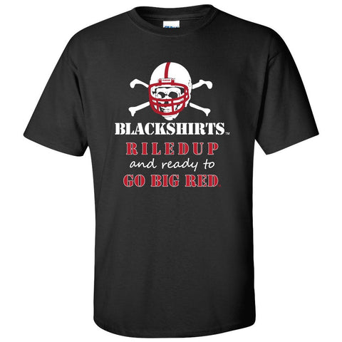 "Nebraska Cornhuskers Football Blackshirts ""RiledUp"" Tee Shirt"