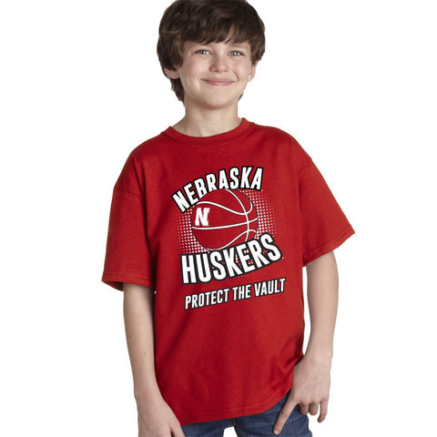 "Nebraska Huskers Basketball ""Protect the Vault"" Youth Boys Tee Shirt"