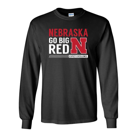 "Nebraska Cornhuskers ""Expect Excellence"" Long Sleeve Tee Shirt"
