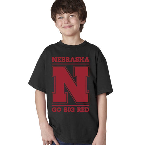 "Nebraska Cornhuskers ""Nebraska N GO BIG RED"" Youth Boys Tee Shirt"