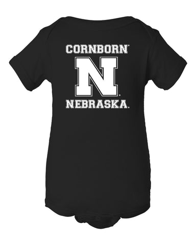 "Nebraska Cornhuskers Football ""CornBorn N Nebraska"" Infant Onesie"