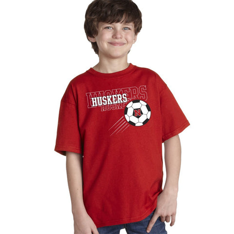 Nebraska Cornhuskers Soccer Youth Boys Tee Shirt