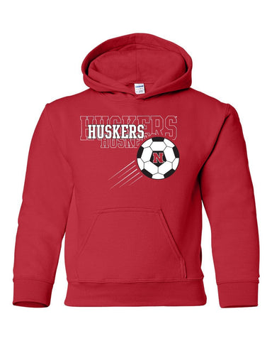 Nebraska Huskers Soccer Youth Hooded Sweatshirt