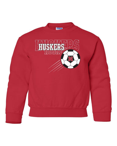Nebraska Huskers Soccer Youth Crewneck Sweatshirt