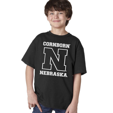 Nebraska Cornhuskers Football CornBorn Varsity Nebraska Youth Boys Tee Shirt