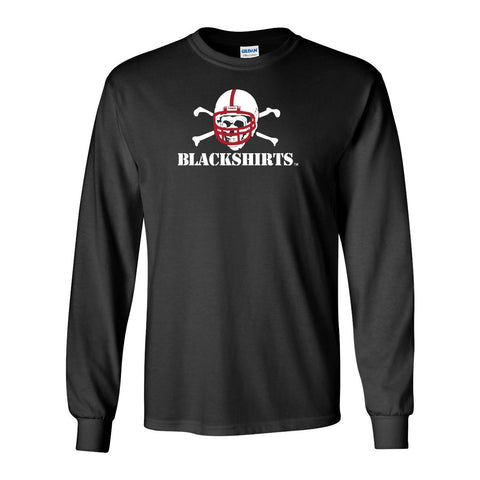 Nebraska Cornhuskers Football Blackshirts Logo Long Sleeve Tee Shirt