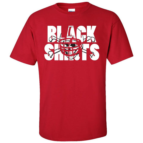 Nebraska Cornhuskers Football BLACKSHIRTS on Red Tee Shirt