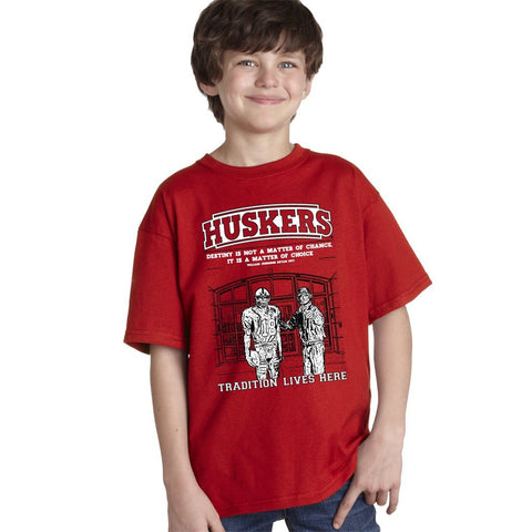 Nebraska Cornhuskers Football Tradition Lives Here Berringer & Osborne Youth Boys Tee Shirt