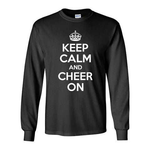 """KEEP CALM and CHEER ON"" Long Sleeve Tee Shirt"