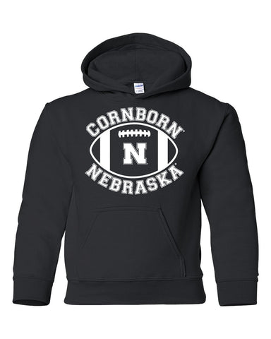 "Nebraska Cornhuskers ""CornBorn N Nebraska"" Football Youth Hooded Sweatshirt"