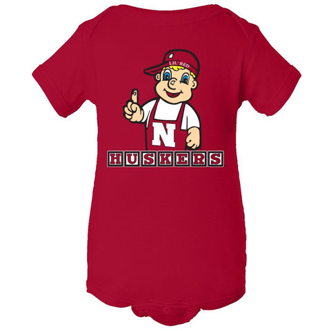 Nebraska Cornhuskers 'Lil Red Mascot Infant Onesie