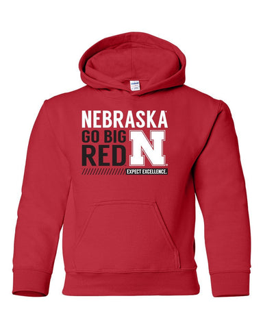 "Nebraska Cornhuskers ""Expect Excellence"" Youth Hooded Sweatshirt"