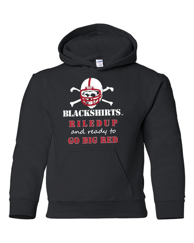 "Nebraska Cornhuskers Blackshirts ""RiledUp"" Youth Hooded Sweatshirt"