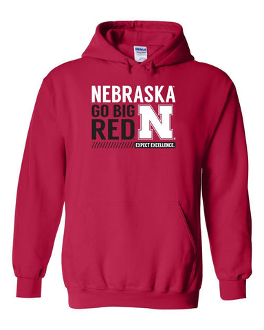 "Nebraska Cornhuskers ""Expect Excellence"" Hooded Sweatshirt"
