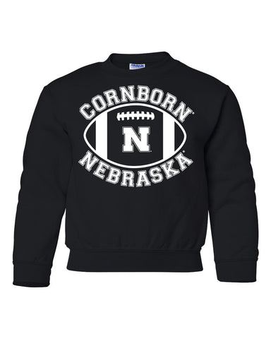 "Nebraska Cornhuskers ""CornBorn N Nebraska"" Football Youth Crewneck Sweatshirt"