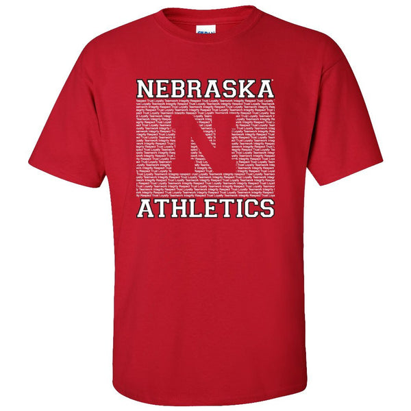 Nebraska Cornhuskers Athletic Department Core Values Tee Shirt