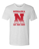 "Premium Ultra-Soft Tri-Blend Nebraska Cornhuskers ""Nebraska N GO BIG RED"" Tee Shirt"
