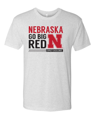 "Nebraska ""Expect Excellence"" Premium Tri-Blend Tee Shirt"