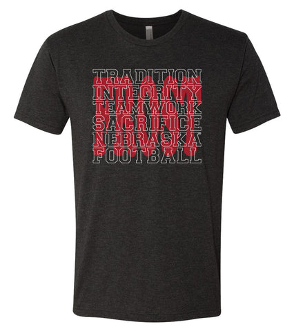 "Nebraska Football with ""FROST"" Background Premium Tri-Blend Tee Shirt"