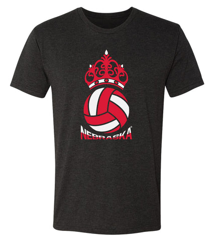 Nebraska Huskers Premium Tri-Blend Tee Shirt - Nebraska Huskers Volleyball Crown