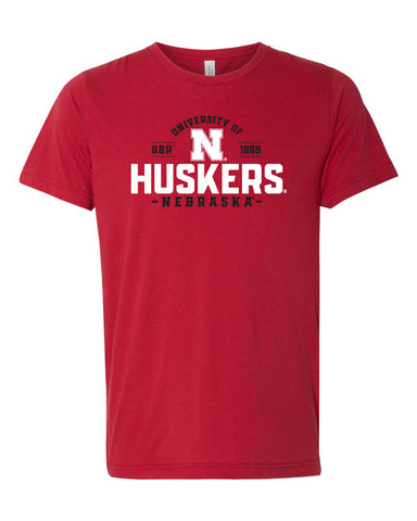 Nebraska Huskers Premium Tri-Blend Tee Shirt - University of Nebraska Huskers N