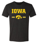 Iowa Hawkeyes Premium Tri-Blend Tee Shirt  - IOWA Hawkeyes Horizontal Stripe