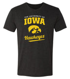 Iowa Hawkeyes Premium Tri-Blend Tee Shirt - The University Of Iowa Script Hawkeyes