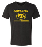 Iowa Hawkeyes Premium Tri-Blend Tee Shirt - Hawkeyes with Oval Tigerhawk - Expect Excellence