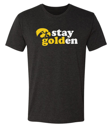 Iowa Hawkeyes Premium Tri-Blend Tee Shirt - Hawkeyes Stay Golden