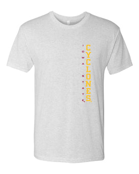 Iowa State Cyclones Premium Tri-Blend Tee Shirt - Vertical Iowa State CYCLONES