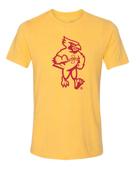 Iowa State Cyclones Premium Tri-Blend Tee Shirt - Mascot Cy Full Body