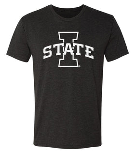 Iowa State Cyclones Premium Tri-Blend Tee Shirt - I-State Primary Logo Blackout
