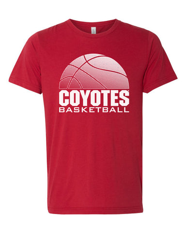 South Dakota Coyotes Premium Tri-Blend Tee Shirt - Coyotes Basketball