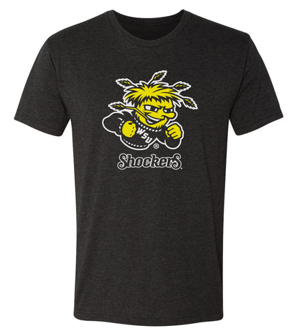 Wichita State Shockers Premium Tri-Blend Tee Shirt - Wu Shock Shockers