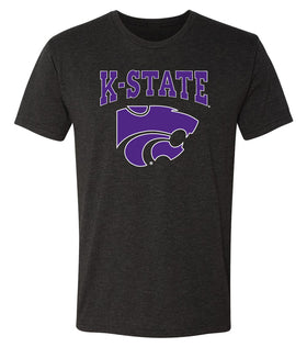 K-State Wildcats Premium Tri-Blend Tee Shirt - K-State Powercat with Outline