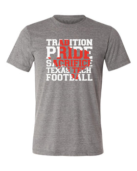 Texas Tech Red Raiders Premium Tri-Blend Tee Shirt - Texas Tech Football Tradition