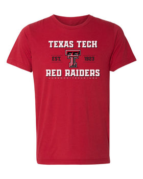 Texas Tech Red Raiders Premium Tri-Blend Tee Shirt - Red Raiders Est 1923