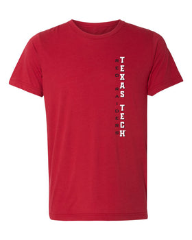 Texas Tech Red Raiders Premium Tri-Blend Tee Shirt - Vertical Texas Tech